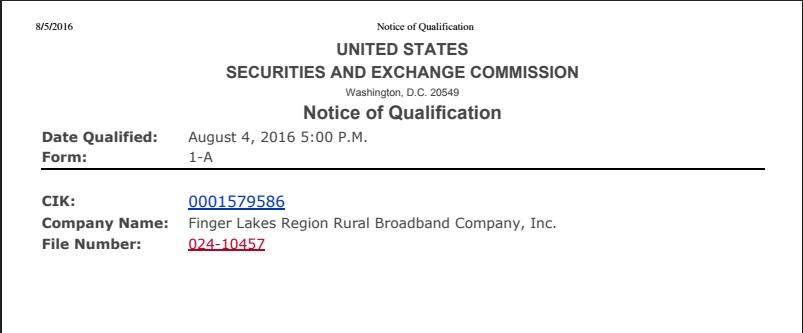 FLRRBC Form D acceptance - Rural Broadband Company - Rural ...